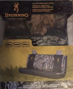 Browning Mossy Oak Camo Seat Cover Bench Full Size