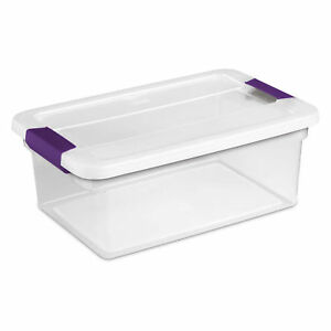 Sterilite 17531712 Clearview Storage Box With Latched Lid 15 Qt 17 l X