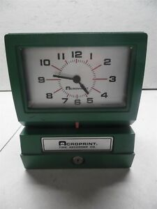 Time Recorder Co Acroprint Time Clock Model 150nr4