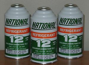 Perfectly Preserved R12 National Automotive Refrigerant 3 12oz Cans