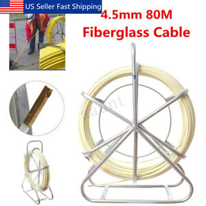 4 5mm Fish Tape Fiberglass Wire Cable Running Rod Duct Rodder Fishtape Puller Us