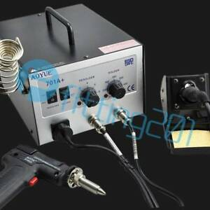 New Aoyue 701a 2 In1 Hot Air Rework Station With Soldering Iron Repair Tool
