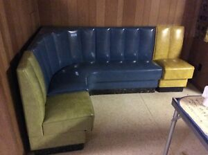Vintage Mid Century 3 Section Vinyl Sofa Well Made Great Look