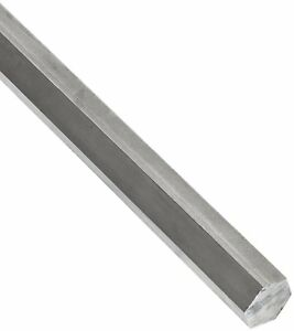 Small Parts 15971 304 Stainless Steel Hex Bar Unpolished mill Finish