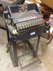 Roper Whitney Pexto Model 99 Letter Forming Finger Brake