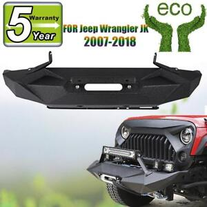 Angry Style Front Bumper Black Q235a Carbon Steel For Jeep Wrangler Jk 2007 2018