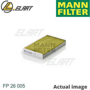 Filter interior Air For Renault Megane Iii Coupe dz0 1 Mann filter Fp 26 005