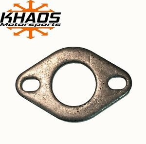 1 75 1 3 4 Universal Mild Steel Flange Exhaust Pipe 2 Slotted Bolt Hole Oval