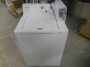 Whirlpool Commercial Capacity Coin operated Top Load Commercial Washer white