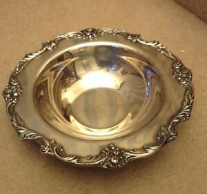 Vintage Reed Barton King Francis 1671 Silver Plate 12 Bowl Dish Pineapple Fruit