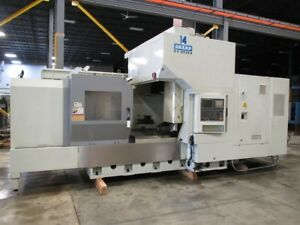 Sharp Sv 8045a Cnc Bridge Type Vertical Machining Center W fanuc 18i mb Control