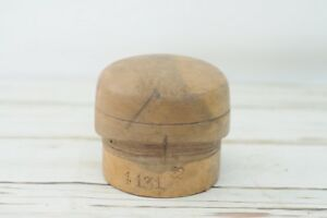 Antique Vintage Capital Early Wood Block Hat Form Mold Millinery 4131 22