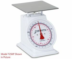 Detecto T 25 kp Dual Reading Top Loading Dial Scale 55 Lb Capacity