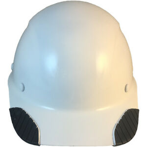 lift Dax Composite Fiberglass white Cap Style Hard Hat Ratchet Susp