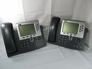 Cisco Cp 7960g Ip Voip Phone W Sip Firmware Poe Tested