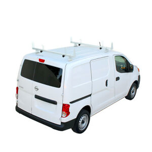 2 Bar 60 Steel Cargo Van Roof Ladder Racks White Fits Nissan Nv200 2013 On