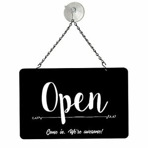 Nahanco Nmskbowa Black Open closed Metal Sign Kit 12 w X 8 h