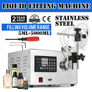 5 5000ml Digital 110v Liquid Filling Machine Filler Oil Manual Silicone Hot