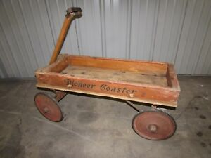 Gendron Pioneer Wooden Coaster Child S Pull Wagon Early 1900 S