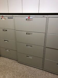 4 Drawer Lateral Size File Cabinet By Hon Office Furniture W lock