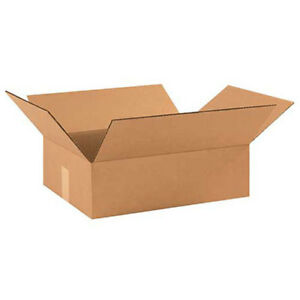 17 1 2 x12 x3 Flat Corrugated Boxes 200lb Test ect 32 25 Pack Lot Of 25