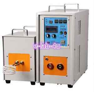 Top Ce 40kw 30 80khz High Frequency Induction Heater Furnace Lh 40ab Us Dt