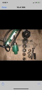 Greenlee 7310sb Hydraulic Driver Punch Set 1 2 x4