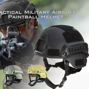 Military Tactical Protective Fast Helmet Airsoft Paintball Outdoor Mask Goggle *