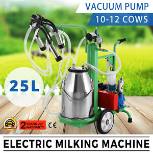 25l Electric Milking Machine Local Shipping 10 12 Cows h extras Moderate Cost