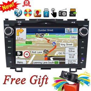 For Honda Crv 2008 2009 2010 2011 Car Stereo Gps Navi Radio Dvd Player Bt Swc