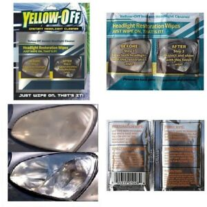 Car And Truck Yellow Off Headlight Cleaner Kit Instant Lens Restoration Restorer