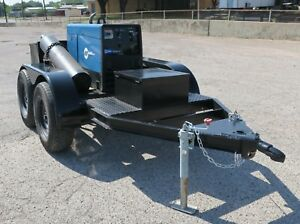 Dual Axle 12 Ft Trailer With Two Tool Boxes Two Tank Racks 2 Bulldog Hitch