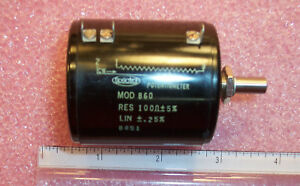 Qty 1 Mod860 100 Spectrol 100 Ohm Precision Potentiometer Nos