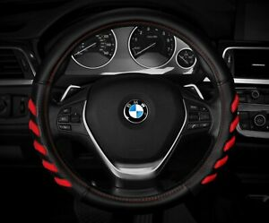 New Black red Car Steering Wheel Cover Hand Pad Buffer Size M 14 5 15 5