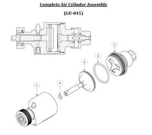 Spray Foam Equipment Ap 2 Air Cylinder Assembly complete Kit