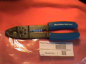 Blue Point Wire Stripper cutter crimper bolt Cutter Awg 10 22 8 3 4 Pwc14