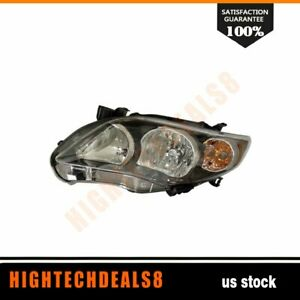 To2502204 Tyc 20 9196 90 Driver Side Headlight Assembly Fit 11 13 Toyota Corolla