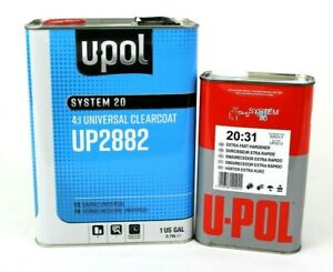 U Pol Universal Urethane Clear Coat Gallon Kit Up2882 W Up2313 X Fast Hard Upol