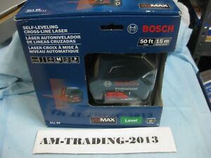 New Sealed Bosch Gll 50 50ft Self leveling Cross line Laser Level