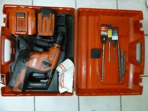 Hilti Te 30 A36 Kit 36v Li ion Rotary Hammer Drill W Bits 2 Battery And Case