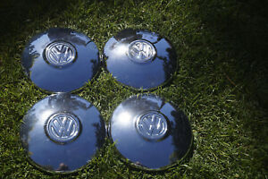 Vw Baby Moon Hubcaps Bright Chrome Looks Great New Low Price