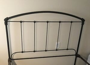 Antique Cast Iron Double Bed Frame
