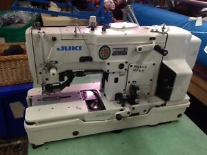 Juki Lbh 783 Buttonhole Machine Industrial With Table 3 Phase 220v Works Great