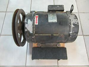 10 7 5 Hp Compressor Motor Ingersoll Rand 3 Phase 10 Inch Pulley 32036006
