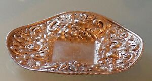 Antique Repousse Sterling Silver Inkwell Tray 5 75 X 5