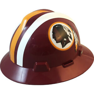 Msa V gard Full Brim Washington Redskins Nfl Hard Hat Type 3 Ratchet Suspension