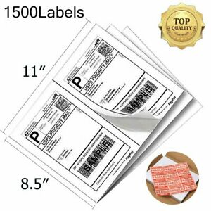 1500 Half Sheet Shipping Labels 8 5x5 5 Self adhesive Direct Corner Usps Fedex