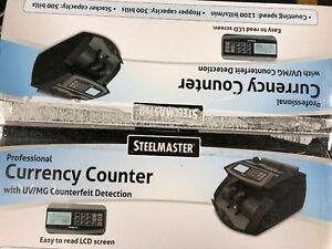 Steelmaster 2005520um Professional Currency Counter Uv mg Counterfeit Detection