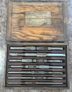 Vintage Beard 7pc Precision Pilot Reamer Set No 17b 11 16 1 1 8 Cutting Range