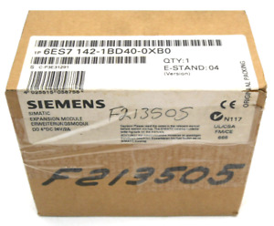 New Factory Sealed Siemens 6es7142 1bd40 0xb0 Simatic Expansion Module 24v 2a